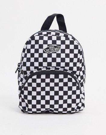 Vans Got This mini check backpack in black | ASOS