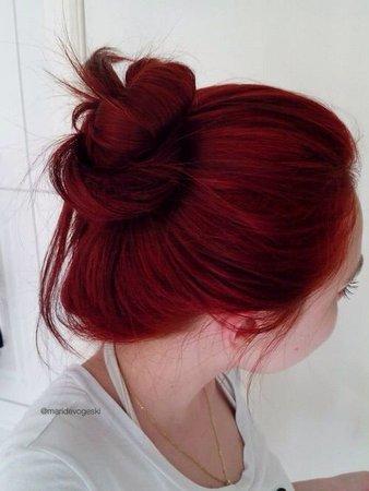 dyed hair in messy bun - Google Search