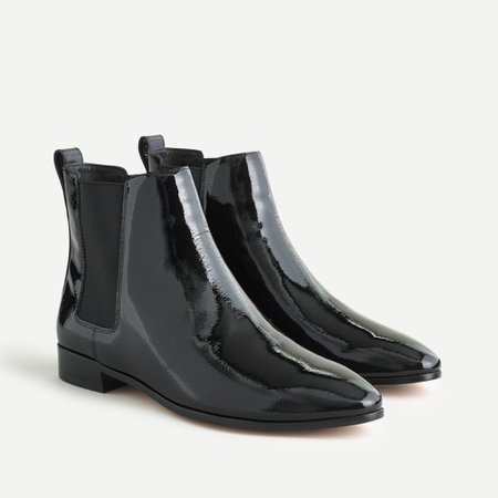 J.Crew: Chelsea Boots In Patent Leather For Women