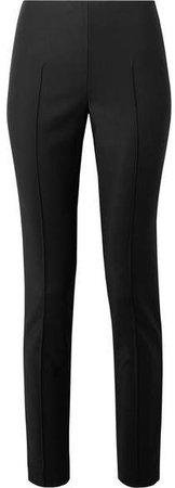 Melissa Stretch Cotton-blend Slim-leg Pants - Black
