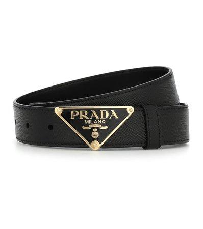 Logo Leather Belt | Prada - Mytheresa