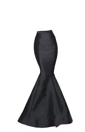 Skirt black satin mermaid