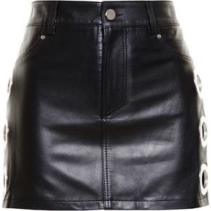 FILLES A PAPA Leather Skirt