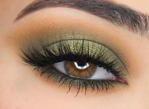 Green / Orange Eye Makeup