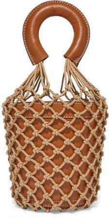 Moreau Leather And Macramé Bucket Bag - Tan