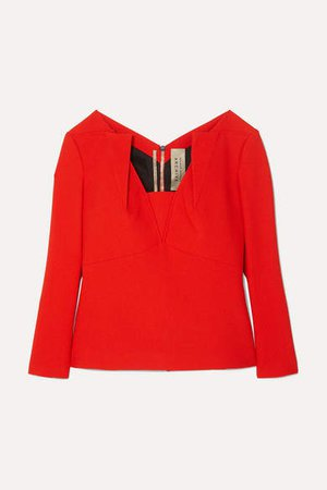 Strand Crepe Top - Red