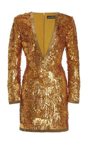 Paisley Sequined Mini Dress By Retrofête | Moda Operandi