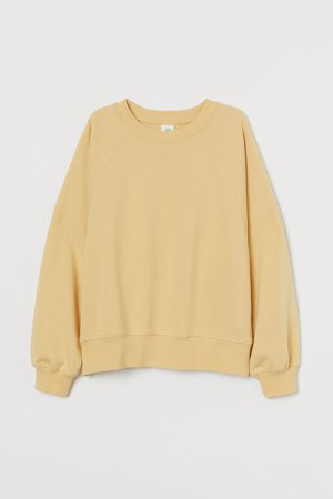 Cotton-blend Sweatshirt - Yellow