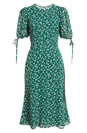 Reformation Oakley Floral Print Midi Dress | Nordstrom