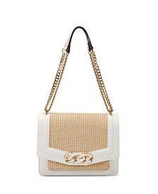 INC International Concepts INC Enamel Straw Small Ajae Crossbody, Created for Macy's & Reviews - Handbags & Accessories - Macy's