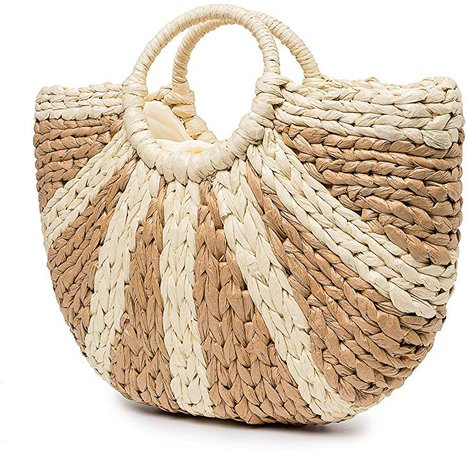 Amazon.com: Summer Beach Bag, JOSEKO Women Straw Paper Handbag Top Handle Big Capacity Travel Tote Purse: Clothing