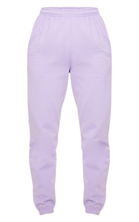 Lilac Casual Joggers | Trousers | PrettyLittleThing USA
