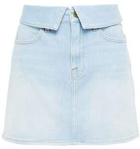 Le High Mini Faded Denim Mini Skirt