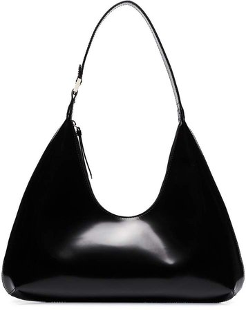 Amber leather shoulder bag