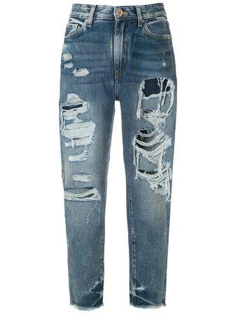 Armani Exchange Ripped Detail Jeans - Farfetch