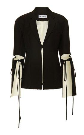 Cutout Tie-Detailed Cady Blazer by Loewe   Moda Operandi