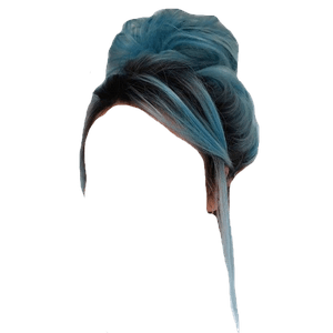 Black and Blue Hair PNG
