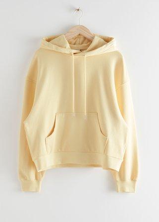Oversized Boxy Hooded Sweatshirt - Light Yellow - Sweatshirts & Hoodies - & Other Stories