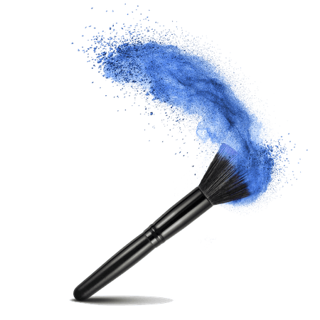 Make Up Brush Blue