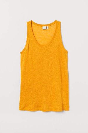 Linen Jersey Tank Top - Yellow