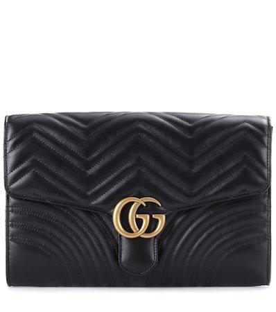 GG Marmont matelassé leather clutch