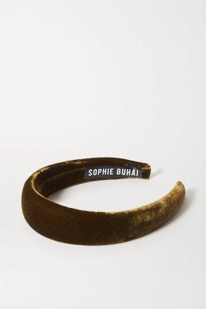 Green + NET SUSTAIN velvet headband   Sophie Buhai   NET-A-PORTER