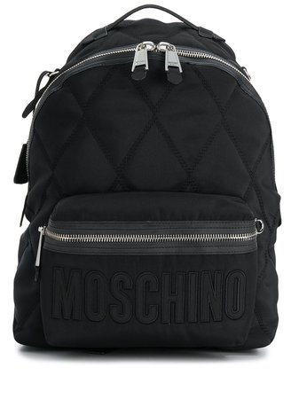Moschino Quilted Effect Backpack   Farfetch.com