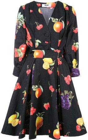 short fruit print dress