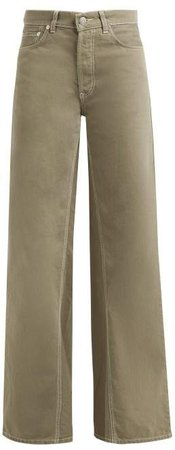 Shiloh Denim Flared Jeans - Womens - Khaki