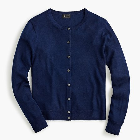 J.Crew: Featherweight Cashmere Cardigan Sweater For Women