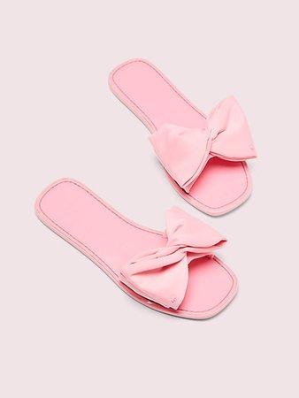 Bikini Bow Slide Sandals