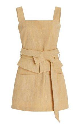 Eve Belted Cotton-Blend Mini Dress By Alexis | Moda Operandi