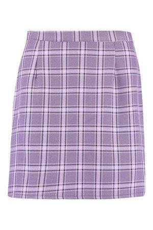 Pastel Check A Line Mini Skirt | Boohoo UK
