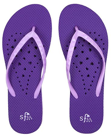 Amazon.com: Showaflops Womens' Antimicrobial Shower & Water Sandals for Pool, Beach, Dorm and Gym - Hearts Collection: Clothing
