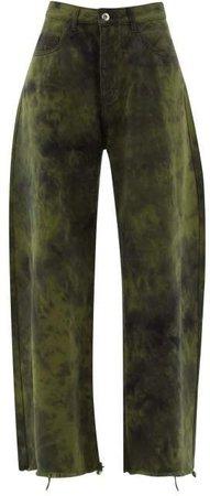 Marques'almeida - Tie Dye Wide Leg Jeans - Womens - Khaki