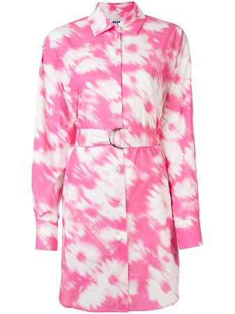 MSGM tie-dye Shirt Dress - Farfetch