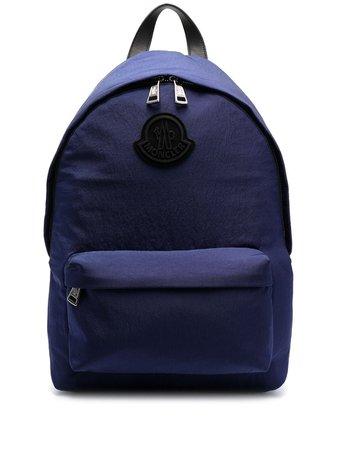 Moncler logo-patch zip-fastening backpack - FARFETCH