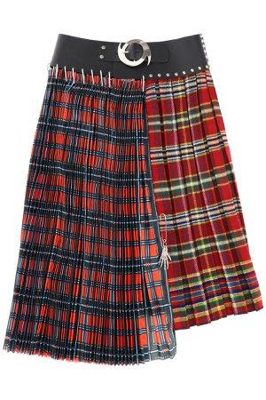 Chopova Lowena Nylon Check Midi Skirt