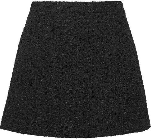 Gucci Tweed Mini Skirt Black