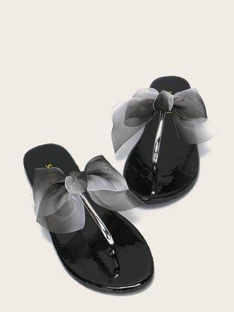 Bow Decor Flip Flops | SHEIN UK