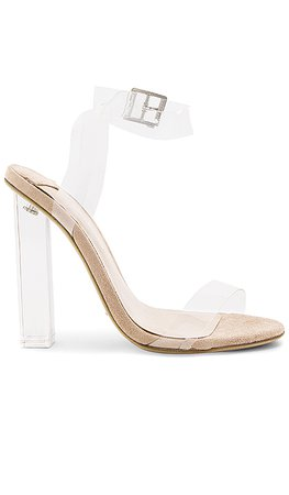 Tony Bianco Kiki Heel in Clear Vynalite & Blush | REVOLVE