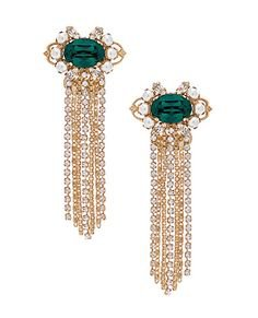 Anton Heunis Cascade Cluster Earrings in Emerald | REVOLVE