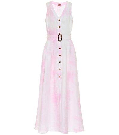 Solid & Striped - Tie-dye linen maxi dress   Mytheresa