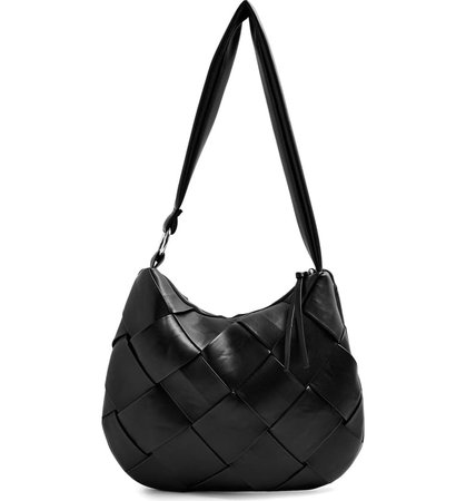Topshop Woven Faux Leather Hobo Bag | Nordstrom