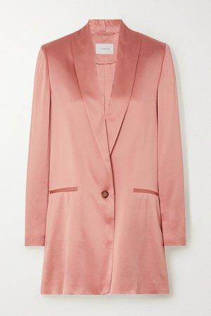 Blush Amandine silk-satin blazer   La Collection   NET-A-PORTER