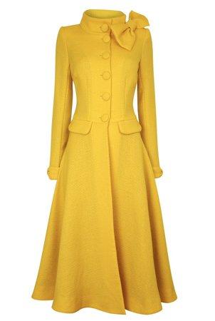 NEW Kristen Coat Dress - Yellow tweed – Claire Mischevani