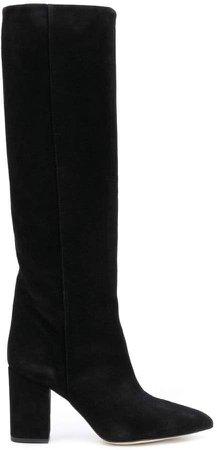 slip-on knee boots