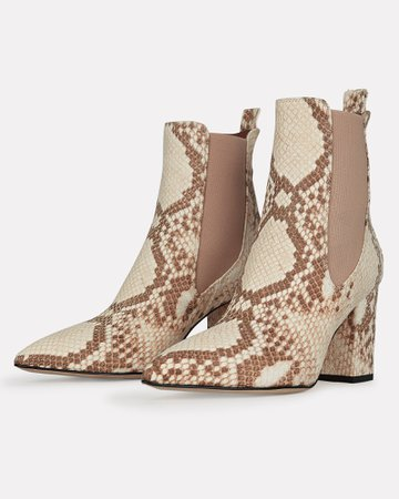 Paris Texas | Python Printed Booties | INTERMIX®