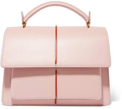 Attache Leather Tote - Pink