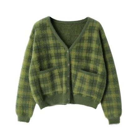 INDIE GIRL GREEN CROPPED SWEATER - Cosmique Studio